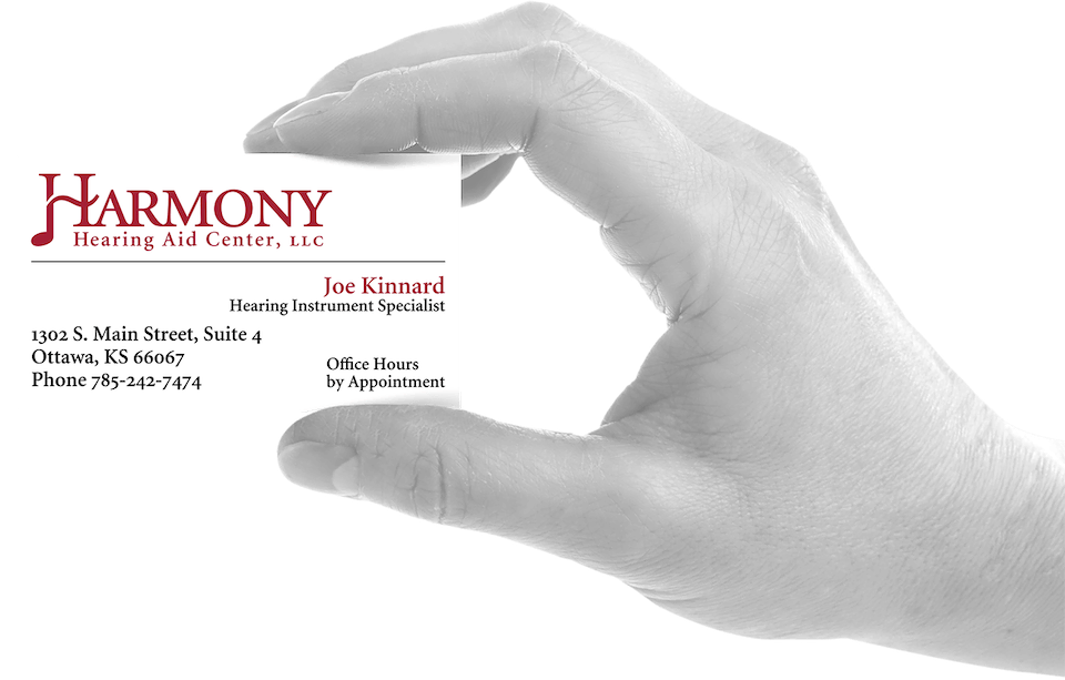 Harmony Hearing Aids business card