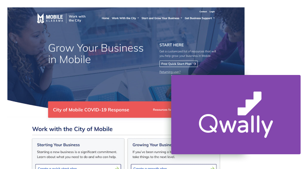 UX and website design for Qwally.