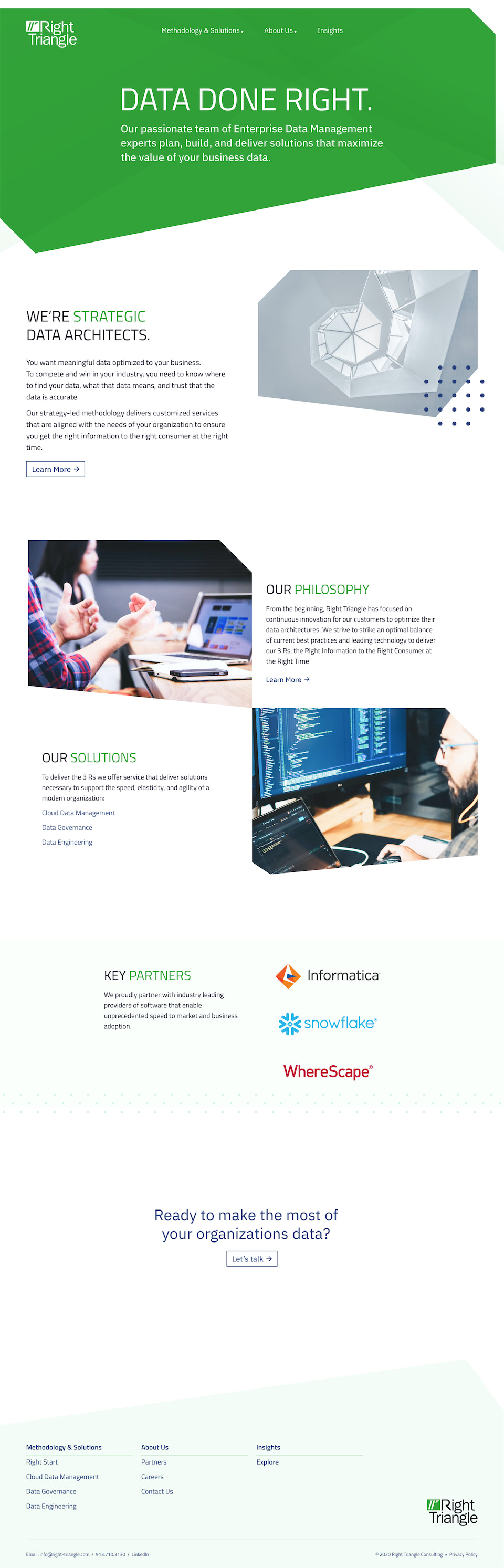 Right Triangle Website Redesign - Homepage.