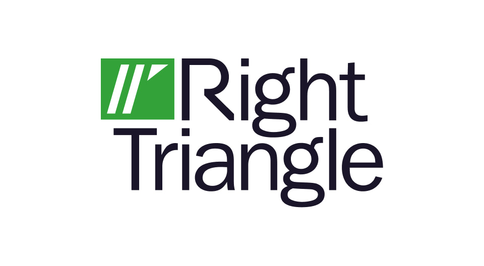 Final Right Triangle logo design.
