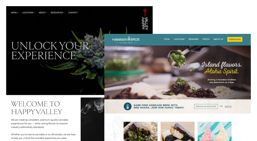 Websites we've designed.
